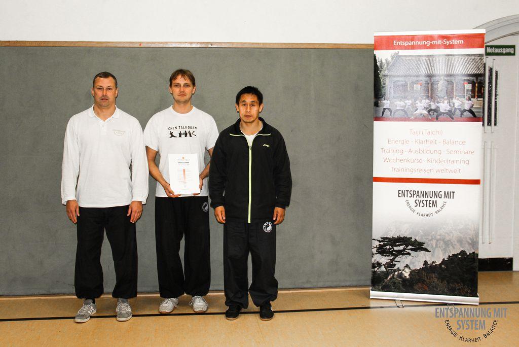 Mirko Lorenz, Oliver Hübel und Meister Chen Ziqiang